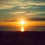 Sunset over Croyde bay North Devon
